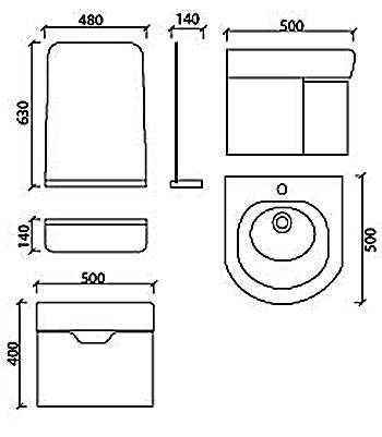 Bộ tủ chậu Acrylic Govern YKL-T13