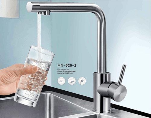 Vòi rửa bát inox 304 kết hợp R.O Moonoah MN-626-2
