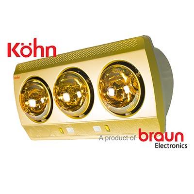 Đèn sưởi nhà tắm Braun Kohn KN03G