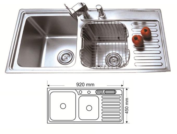Chậu rửa bát inox 304 AMTS 9245C