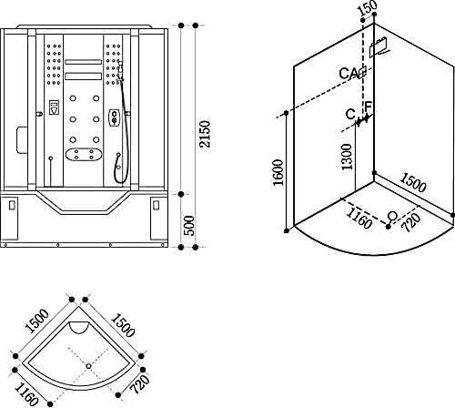 Bản vẽ kỹ thuật lắp đặt Phòng xông hơi Govern JS-110