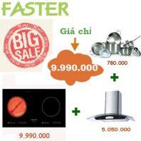 Combo: Bếp từ + Hút mùi + Nồi inox => Giá chỉ có 9.990.000 vnđ