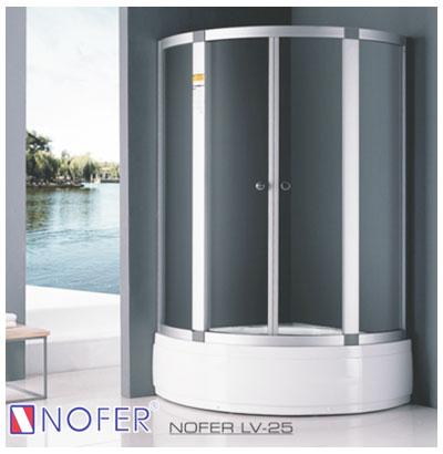 Phòng tắm vách kính Nofer LV-25P (đế ngọc trai)