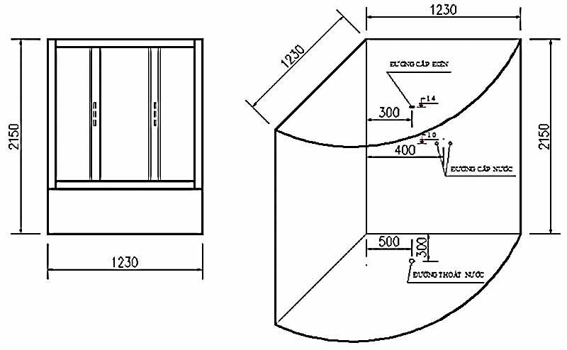 Bản vẽ kỹ thuật lắp đặt Phòng xông hơi Govern JS-0202