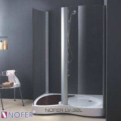 Phòng tắm vách kính Nofer LV-32P-B (Đế ngọc trai)