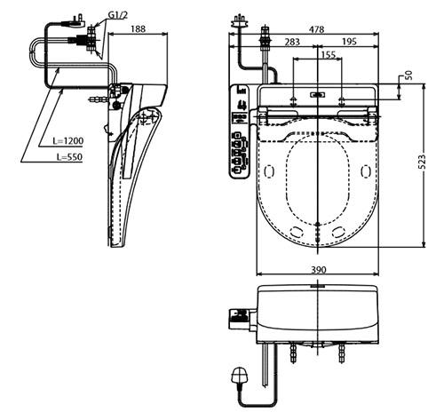 Nắp rửa điện tử TOTO TCF6632A