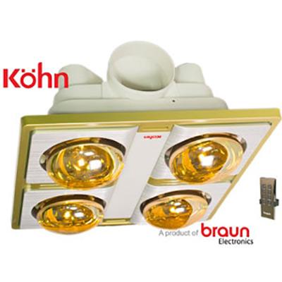 Đèn sưởi nhà tắm âm trần Braun Kohn KN04G-Plus