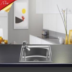 Chậu rửa bát liền khối Sơn Hà S50 Premium (inox 304)
