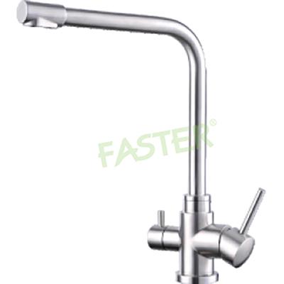 Vòi rửa bát 3 đường nước kết hợp RO Faster FS 04SS