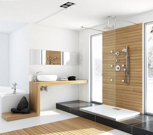 Tủ chậu phòng tắm bằng gỗ tự nhiên