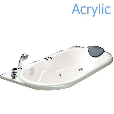 Bồn tắm xây massage Acrylic MICIO W-160M (không chân yếm)