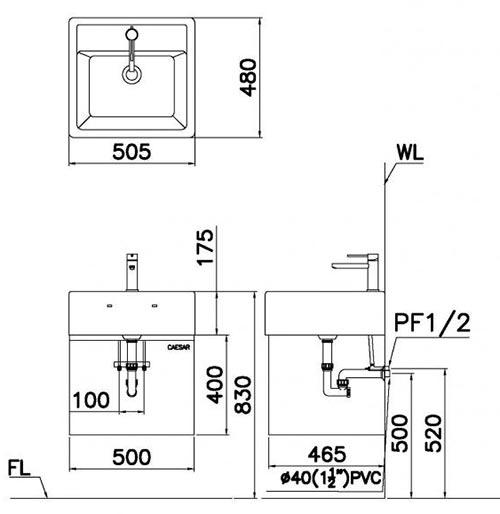Kết quả hình ảnh cho bản vẽ kỹ thuật chậu lf5236