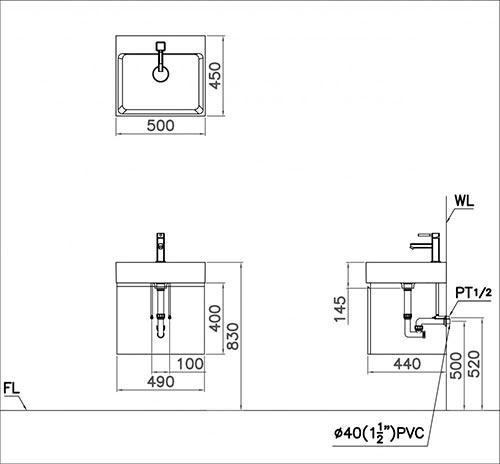Kết quả hình ảnh cho bản vẽ kỹ thuật chậu lf5253
