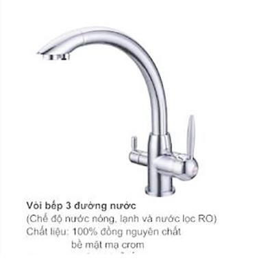 Vòi rửa bát 3 đường nước kết hợp RO TOPY A66