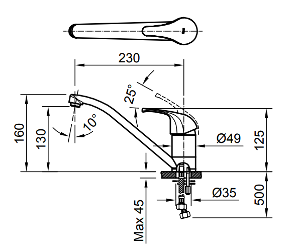 Vòi rửa bát nóng lạnh Inax SFV-302S