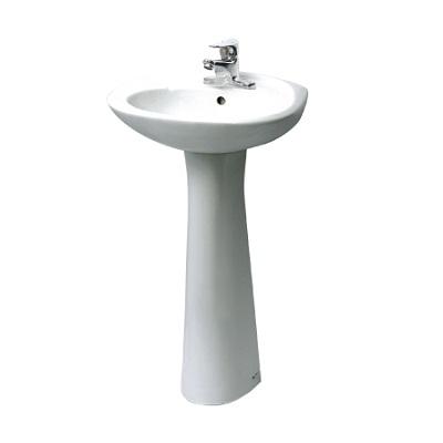 Chậu rửa chân dài Inax L-284V+L-284VD (Màu trắng)