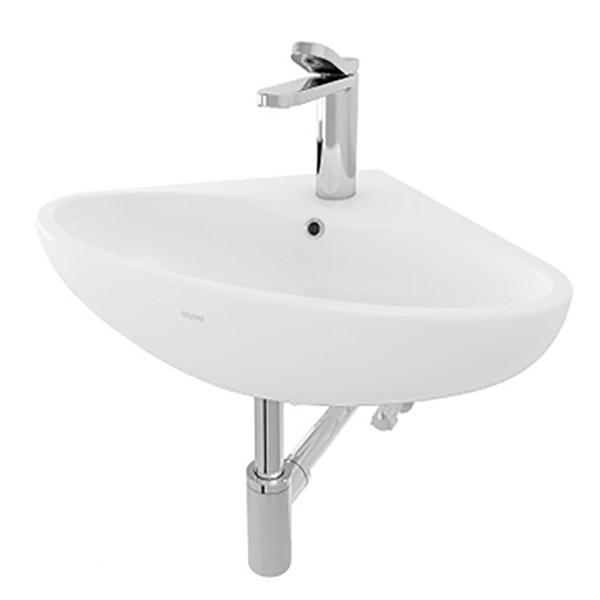 Chậu treo tường lavabo góc TOTO LW815CJW/F#W