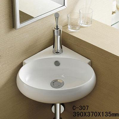 Chậu rửa mặt lavabo MOONOAH MN-C307 (góc)