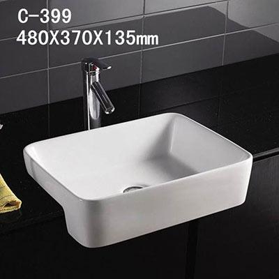 Chậu rửa mặt lavabo MOONOAH MN-C399 Đặc điểm Mã sản phẩm : Chậu rửa mặt lavabo MOONOAH MN-C399 Tên sản phẩm: chậu lavabo bán âm bàn Kích thước : 480 x 370 x 135 mm Màu sắc : Màu trắng Xuất xứ Hãng sản xuất : MOONOAH Công nghệ : Nhật Bản Sản xuất tại : Trung Quốc
