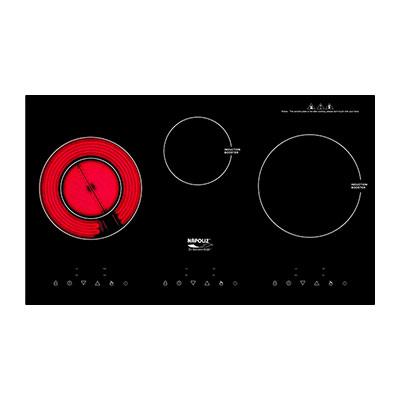 Bếp điện hỗn hợp từ 3 bếp cao cấp Napoliz NA630IC