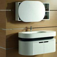 Bộ tủ chậu Acrylic Govern YKL-H98 Thông số kỹ thuật Kích thước tủ chính: 1100 x 480 x 520 mm Chất liệu : nhựa Acrylic Bộ tủ chậu Acrylic Govern YKL-H92 bao gồm : Tủ chậu chính : Acrylic Tủ phụ : nhựa Acrylic, Chậu rửa : bằng sứ Gương : chống mốc, chịu hơi nước, khung nhựa Acrylic Kệ gương : nhựa Acrylic, liền gương Vòi rửa : đồng mạ crom/Niken, đồng bộ với tủ chậu Bộ xi-phông xả : đồng mạ crom/Ni