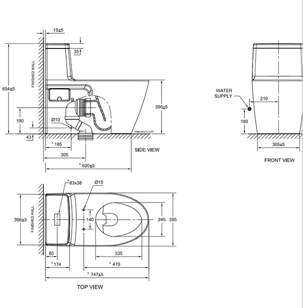 Bồn cầu American Standard 2007SC-WT