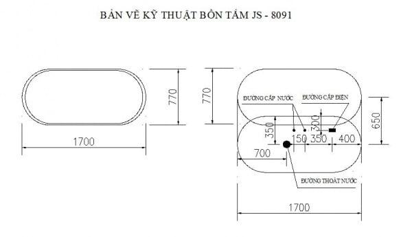 Bồn tắm không massage Govern JS-8091
