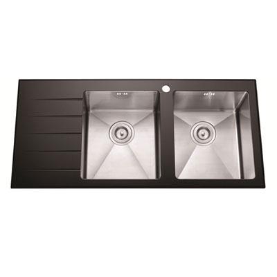 Chậu rửa bát mặt kính cao cấp AMTS 10550HK (bàn trái)