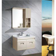 Bộ tủ chậu DADA 8221 (inox cao cấp) Thông số kỹ thuật Tên sản phẩm : Bộ tủ chậu inox DaDa Model : 8221 Chất liệu : inox cao cấp Kích thước tủ chính(Dài x Rộng): 750 x 460 mm Bộ tủ chậu bao gồm : Tủ Cabinet chính : inox sơn tĩnh điện siêu bền Chậu sứ lavabo : sứ trắng Gương: chống mốc, khung inox chống rỉ.