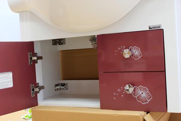 Tủ chậu lavabo nhựa PVC BROSS