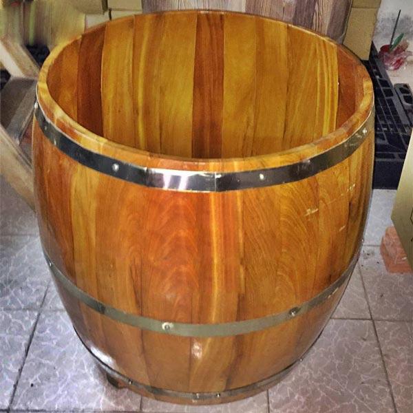 Bồn tắm gỗ lõi Mít tròn 70 cm