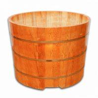 bồn tắm gỗ Pơ Mu tròn