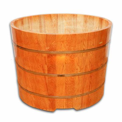 Bồn tắm gỗ Pơ Mu tròn 80 cm