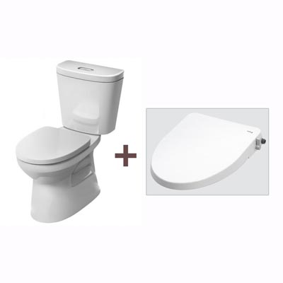 Bồn cầu Inax C-306A+CW-S15VN (Nắp shower toilet)
