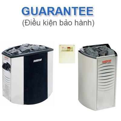Chính sách bảo hành máy xông hơi khô Harvia