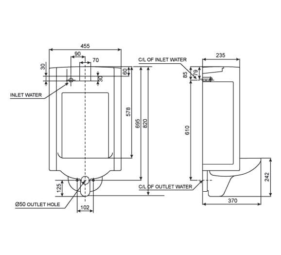 Bồn tiểu nam cảm ứng American WP-6506