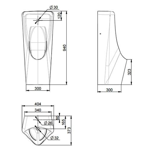 Bồn tiểu nam đặt sàn American WP-6605