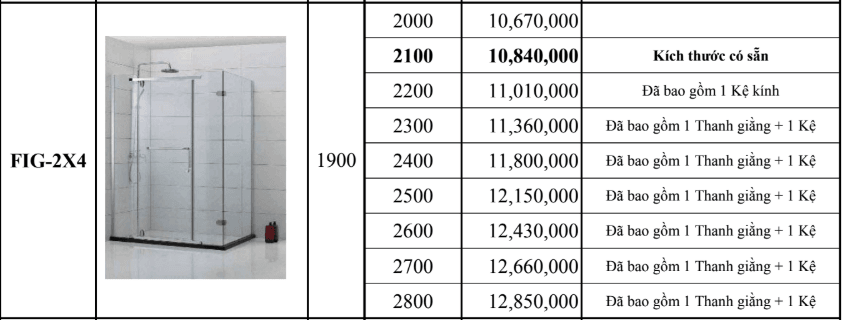 Vách kính theo yêu cầu Fendi FIG-2X4