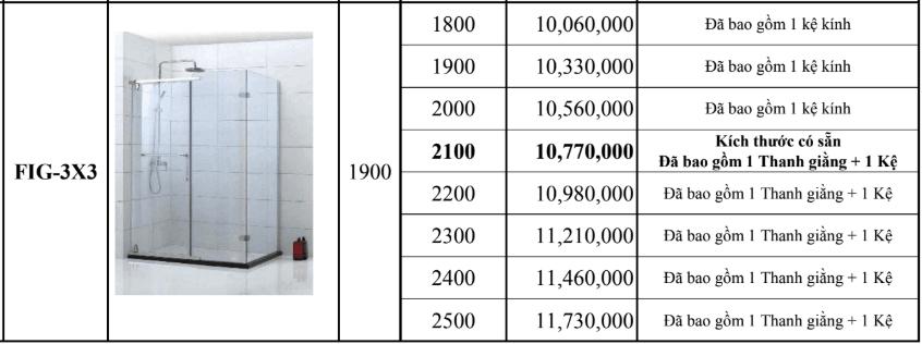 Vách kính theo yêu cầu Fendi FIG-3X3