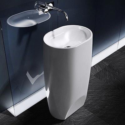 Chậu rửa mặt lavabo nghệ thuật chân đứng 03