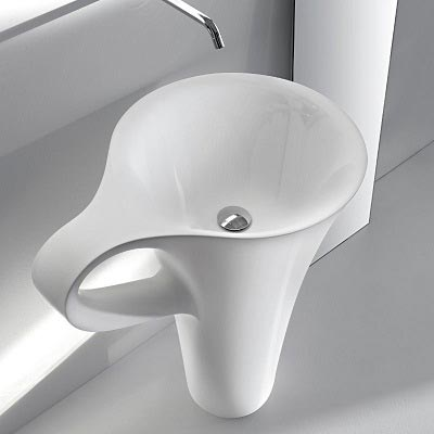 Chậu rửa mặt lavabo nghệ thuật chân đứng 04