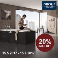 Phòng tắm đẳng cấp Grohe khuyến mại 20%