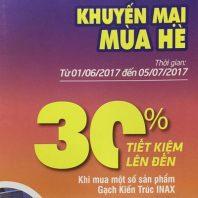 Khuyến mại mùa hè Inax 2017 – Giảm giá đến 30%