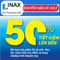 Khuyến mại mùa hè Inax 2017 – Giảm giá đến 50%