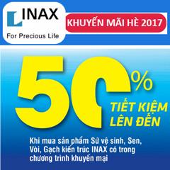 Khuyến mãi mùa hè Inax 2017 - Giảm giá đến 50%