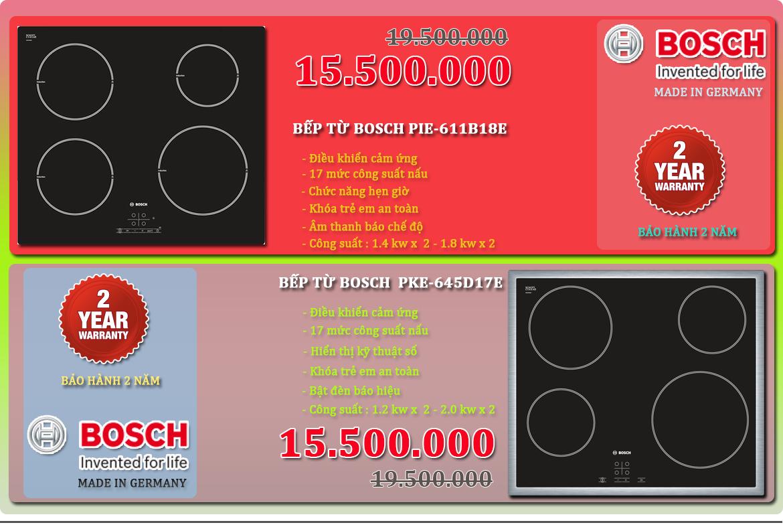 BOSCH - Mua BẾP TỪ nhập khẩu Đức tiết kiệm tới 4 triệu đồng