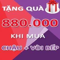 Mua Combo [Chậu rửa bát + Vòi] tặng quà trị giá 880.000