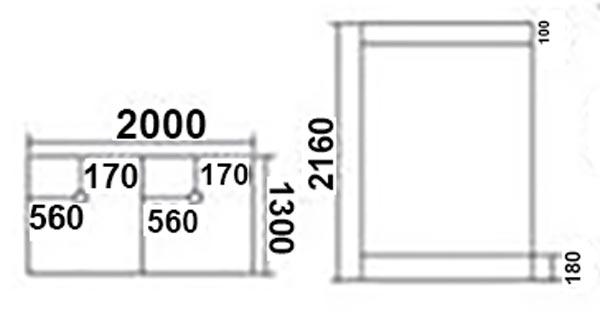 Bản vẽ phòng xông hơi TDO 120