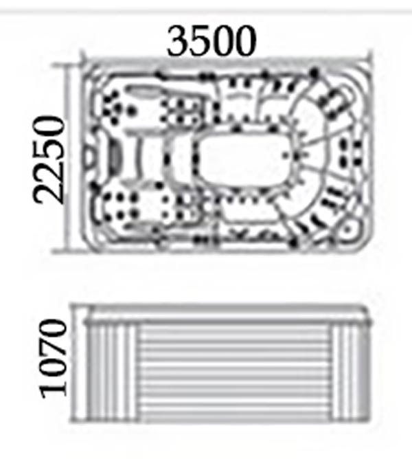 Bồn tắm massage TDO-720