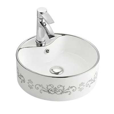 Chậu rửa mặt lavabo Lộc An Phát A029 K18 Silver